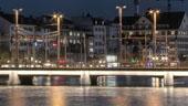 Beleuchtung Bahnhofbrücke