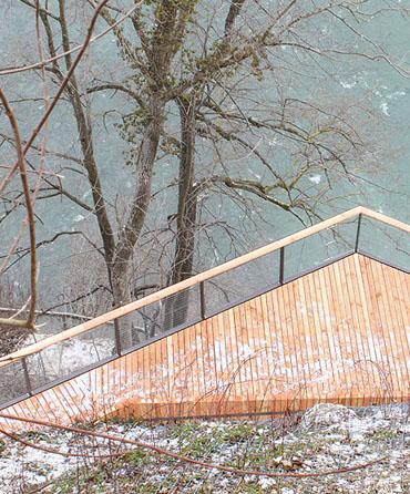 Belvedere-Steg Rheinfall
